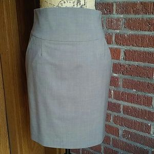 Banana Republic Taupe Brown Wool  Pencil Skirt